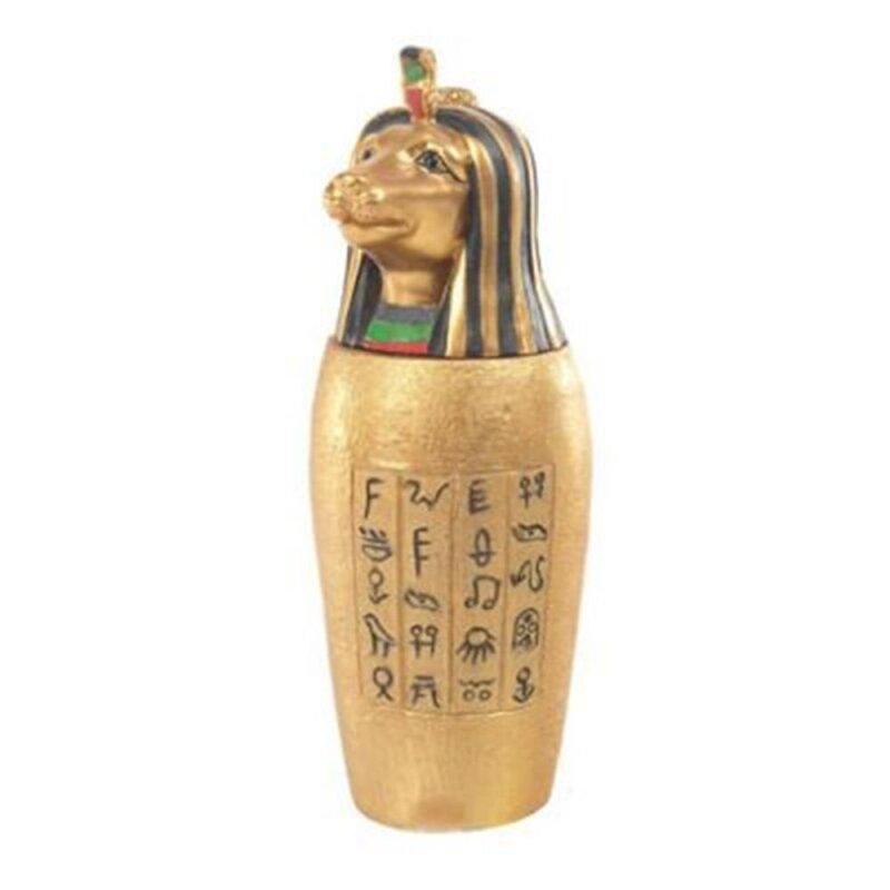 Goldenes Ägyptisches Kanope Gefäß Seth