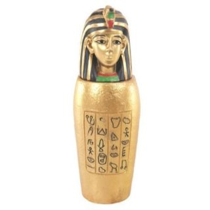 Goldenes Ägyptisches Kanope Gefäß Isis