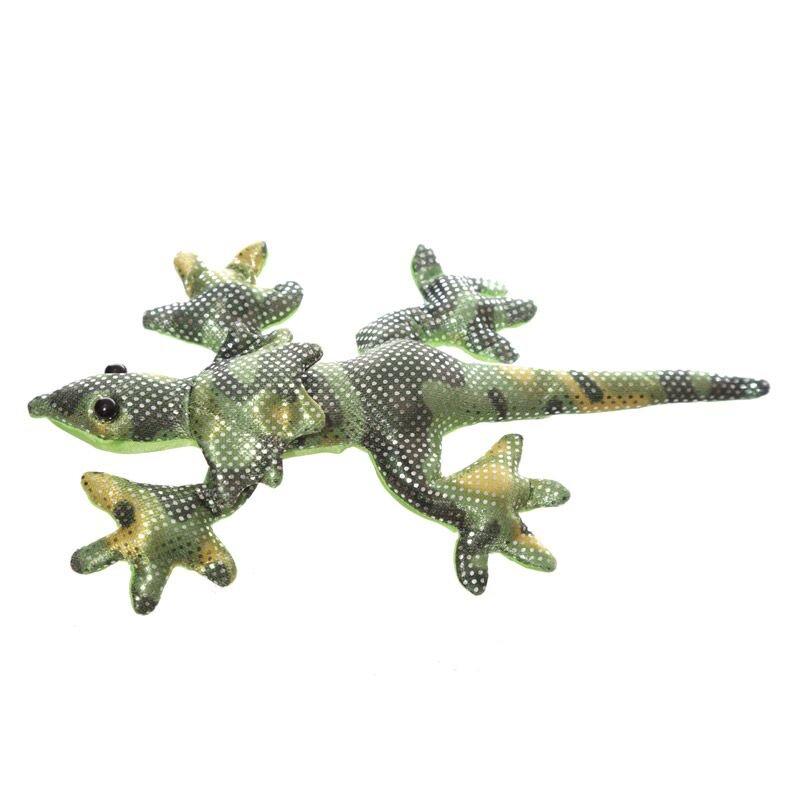 Kleine sandgefüllte Krageneidechse, grün