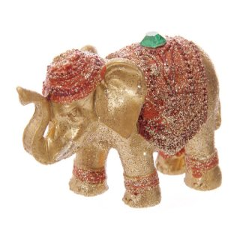 Metallic Glitzer Glücks-Elefant Räucherstäbchenhalter Grün