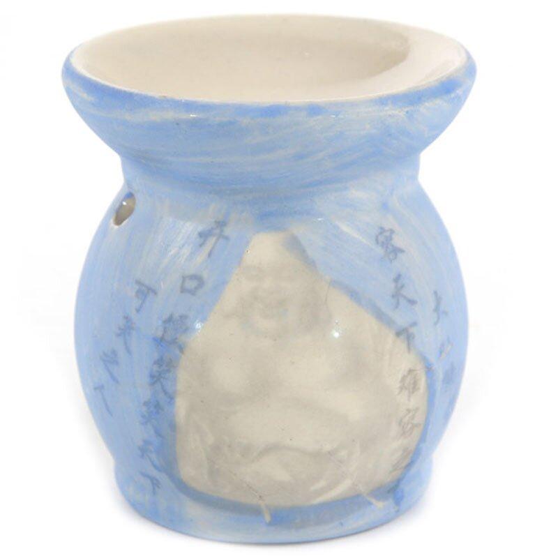 Keramik Duftlampe im Asien Design Blau mit Buddha