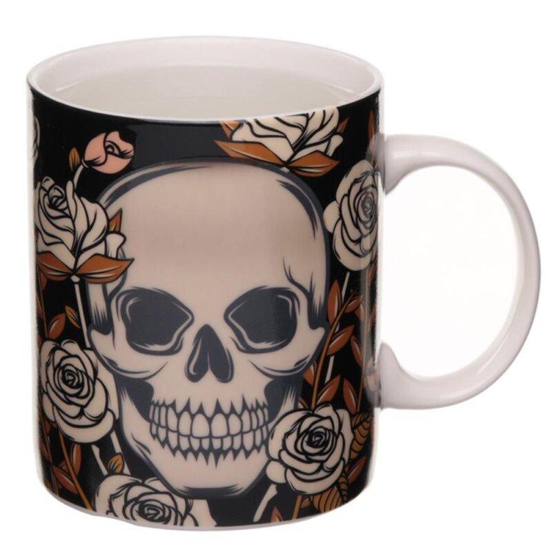 Skulls & Roses Farbwechsel Tasse aus Keramik