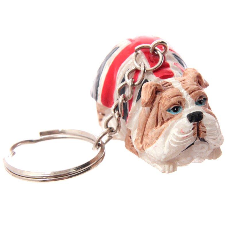 British Bulldog Schlüsselanhänger liegend