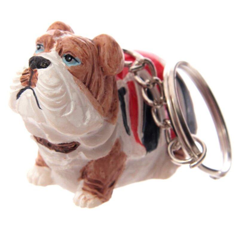 British Bulldog Schlüsselanhänger stehend