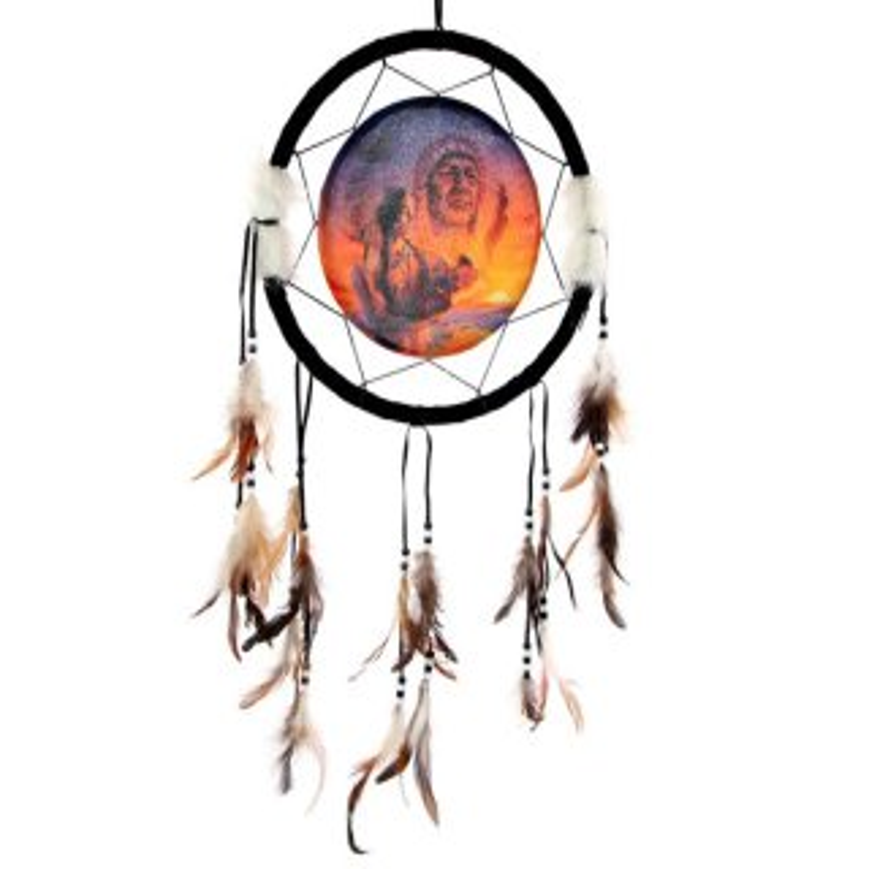 Traumfänger Indianer drei Generationen 32 cm