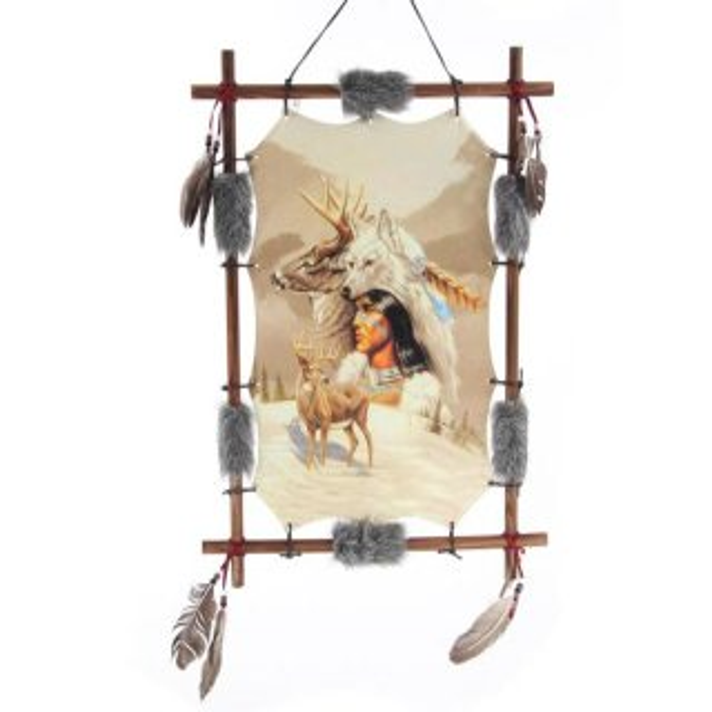 Traumfänger Indianer mit Hirsch