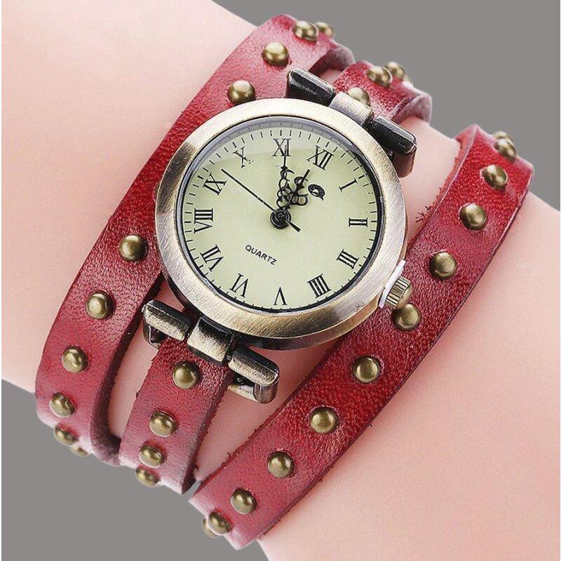 Retro Armbanduhr in Rot