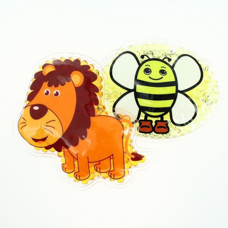 2 Kühlpads Löwe Biene