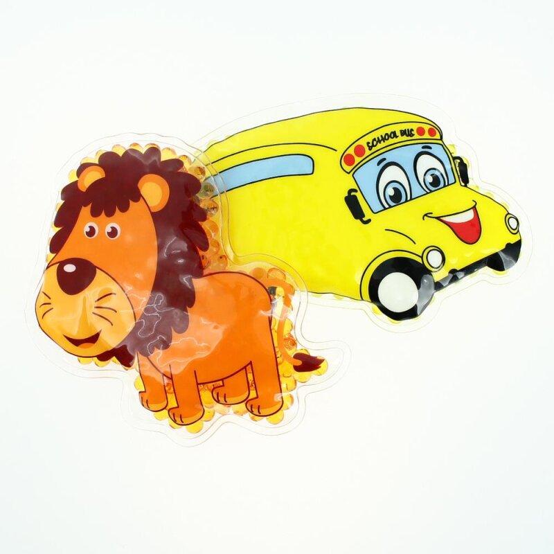 2 Kühlpads Löwe Bus/Gelbes Auto