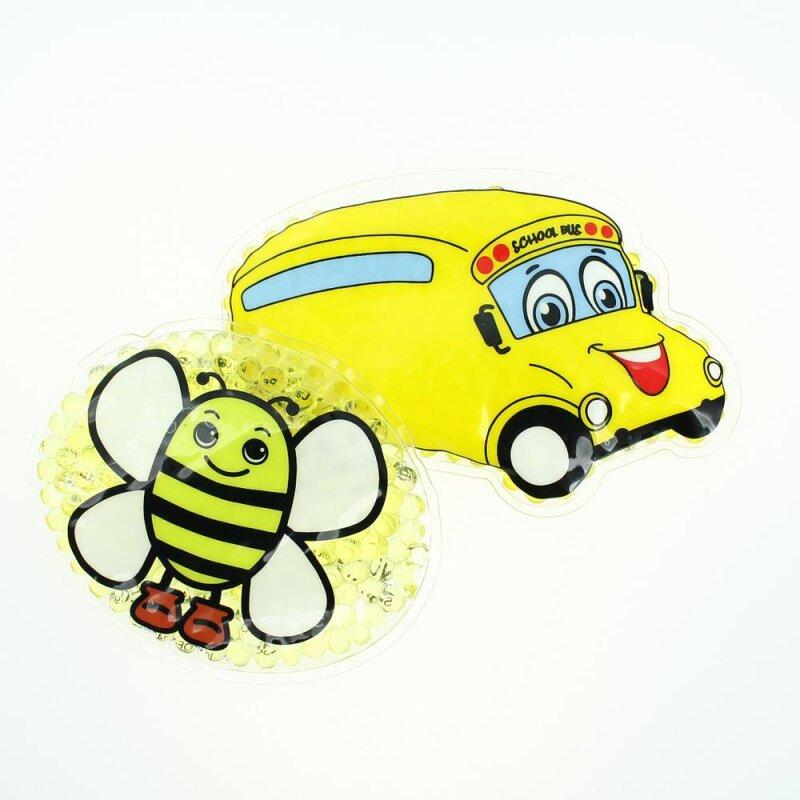2 Kühlpads Biene Bus/Gelbes Auto