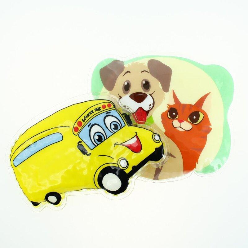 2 Kühlpads Bus/Gelbes Auto Hund/Katze