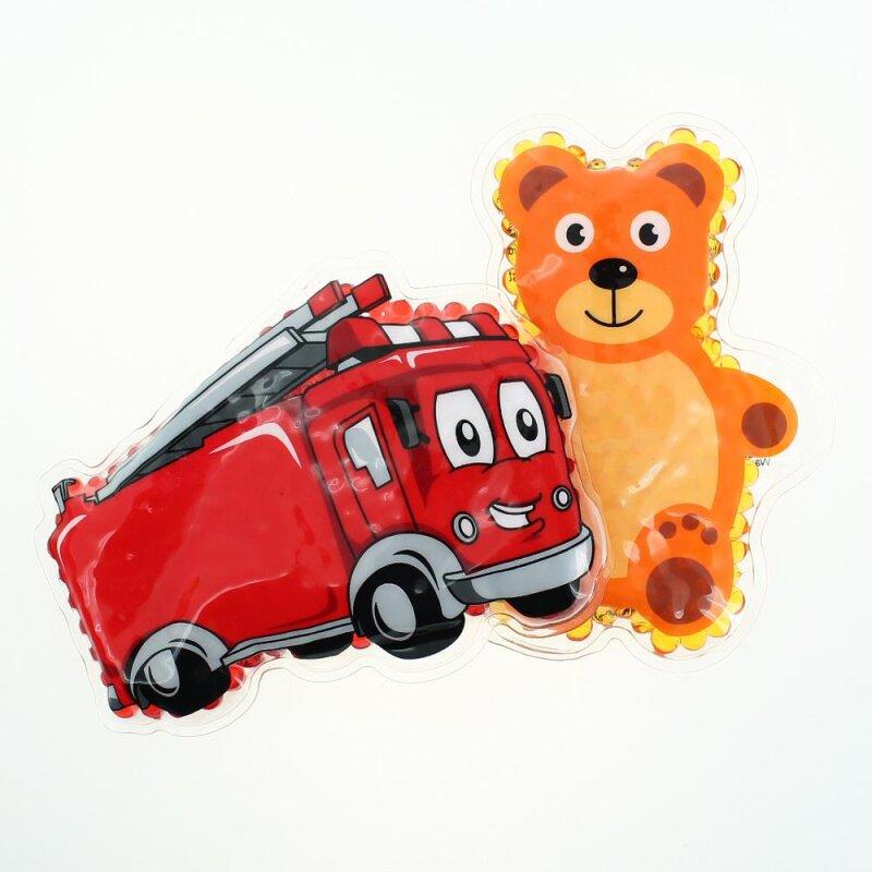2 Kühlpads Feuerwehr Teddybär