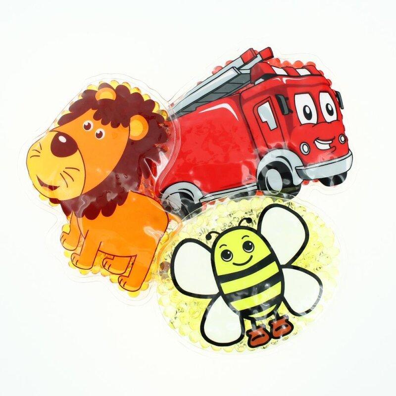 3 Kühlpads Löwe Biene Feuerwehr
