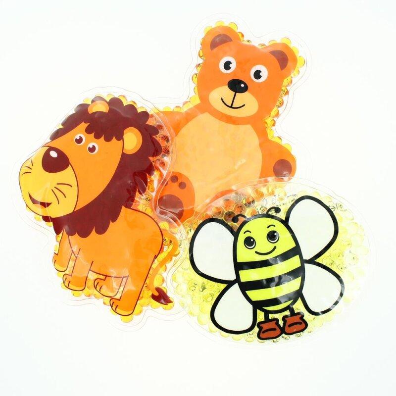 3 Kühlpads Löwe Biene Teddybär