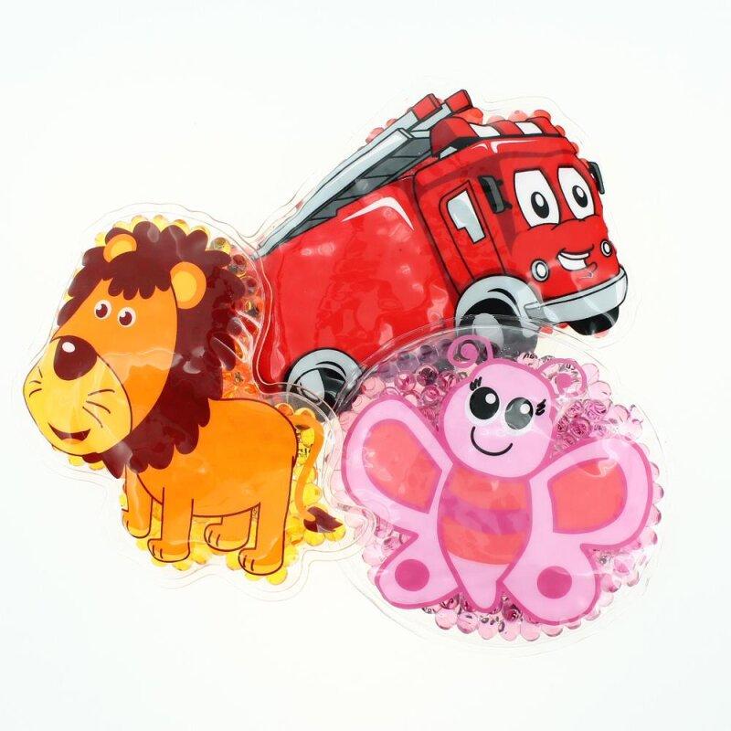 3 Kühlpads Löwe Schmetterling Feuerwehr