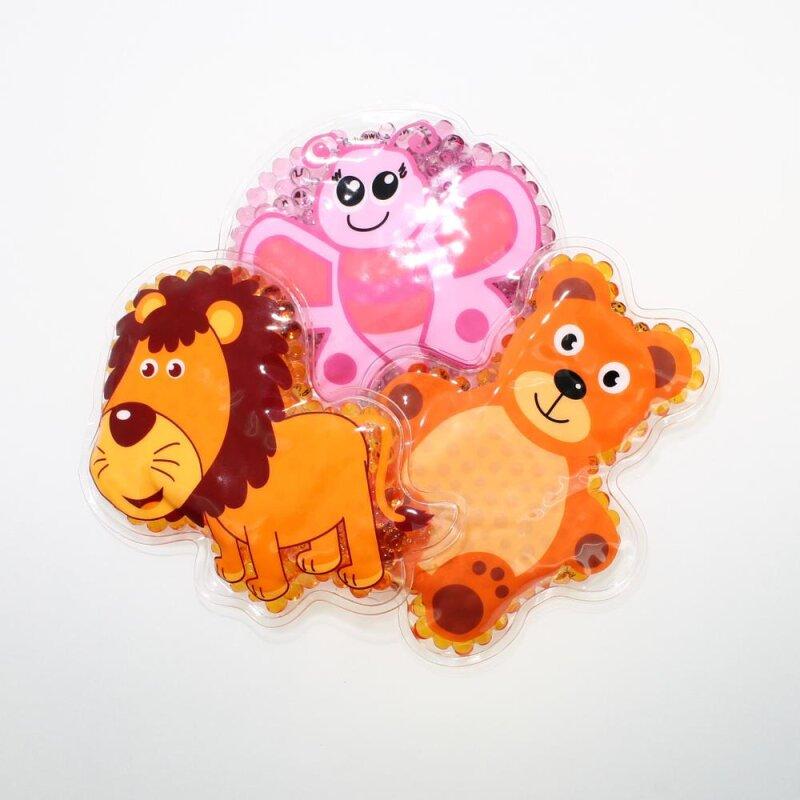 3 Kühlpads Löwe Schmetterling Teddybär
