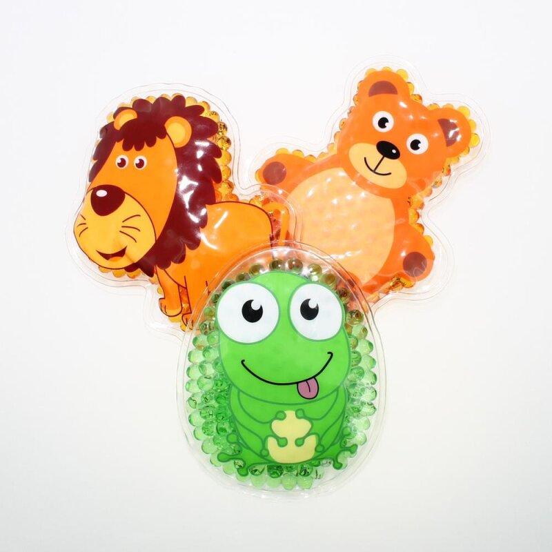 3 Kühlpads Löwe Frosch Teddybär