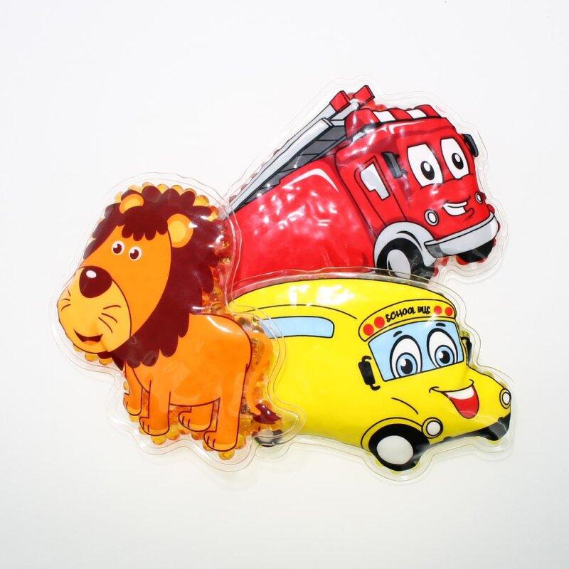 3 Kühlpads Löwe Bus/Gelbes Auto Feuerwehr