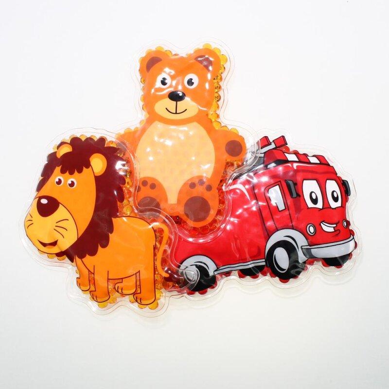 3 Kühlpads Löwe Feuerwehr Teddybär