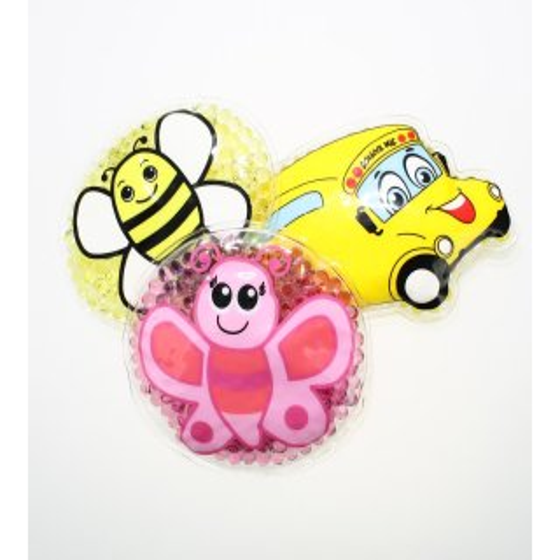 3 Kühlpads Biene Schmetterling Bus/Gelbes Auto