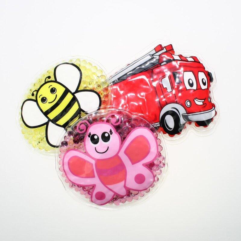 3 Kühlpads Biene Schmetterling Feuerwehr