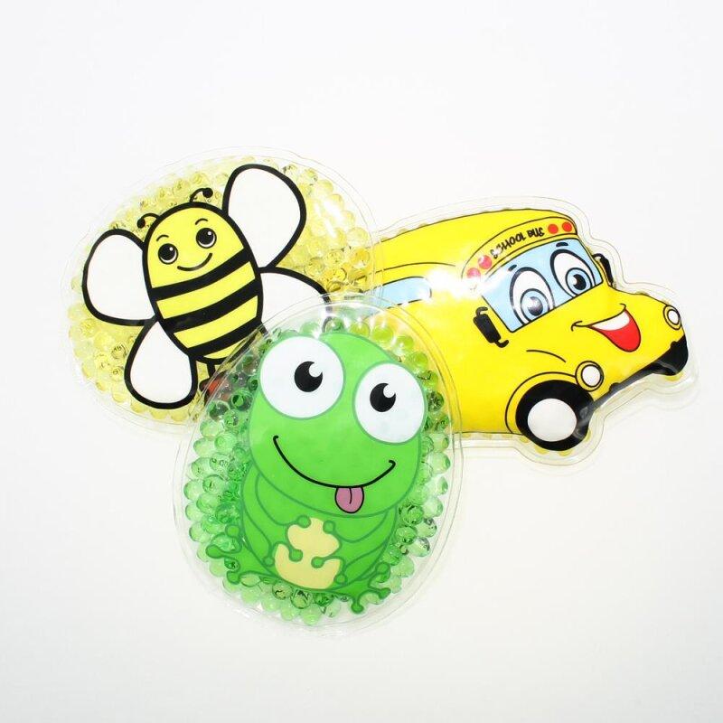 3 Kühlpads Biene Frosch Bus/Gelbes Auto
