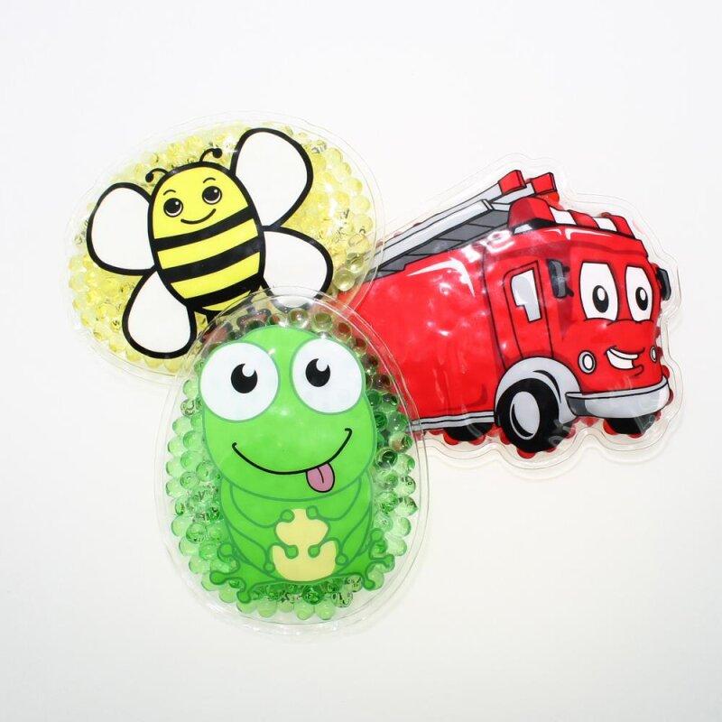 3 Kühlpads Biene Frosch Feuerwehr