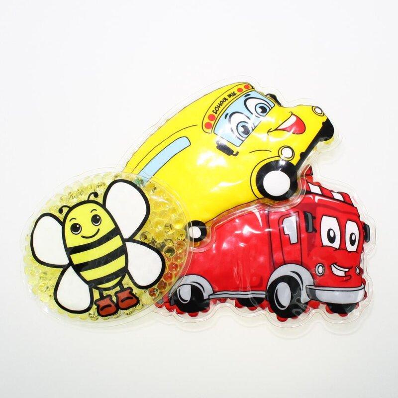 3 Kühlpads Biene Bus/Gelbes Auto Feuerwehr