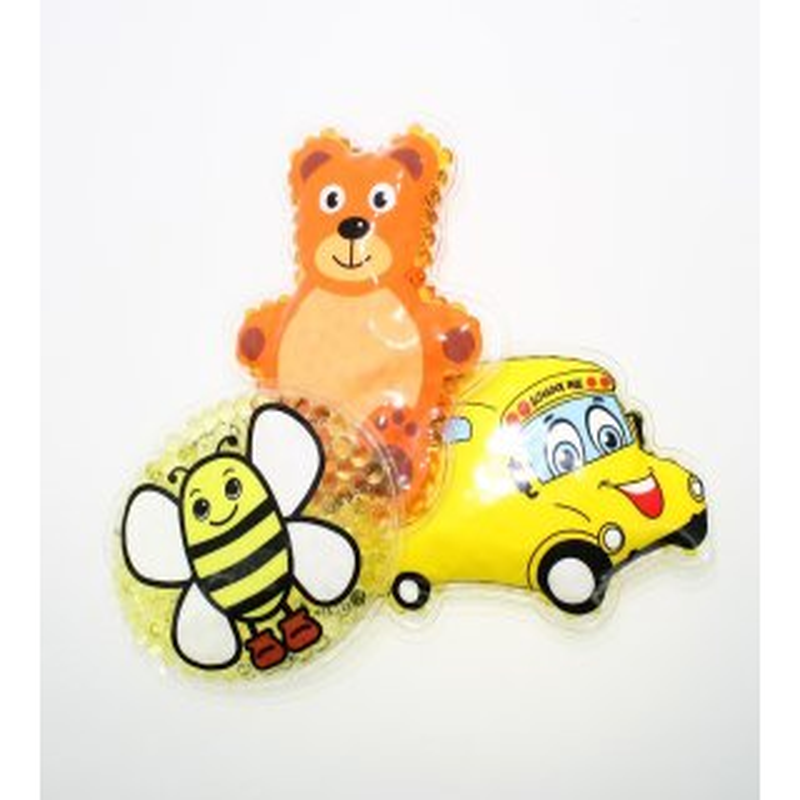 3 Kühlpads Biene Bus/Gelbes Auto Teddybär