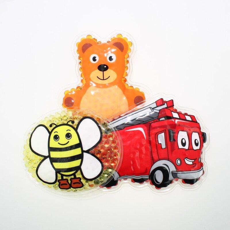 3 Kühlpads Biene Feuerwehr Teddybär