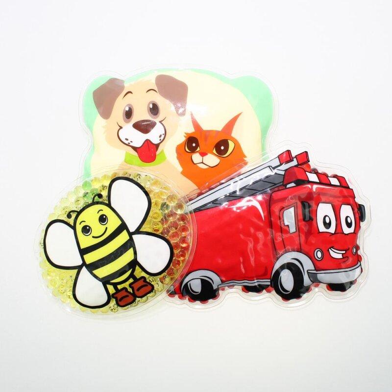 3 Kühlpads Biene Feuerwehr Hund/Katze
