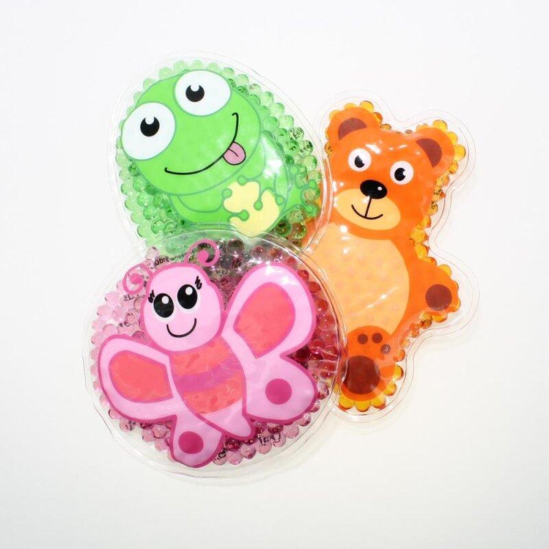 3 Kühlpads Schmetterling Frosch Teddybär