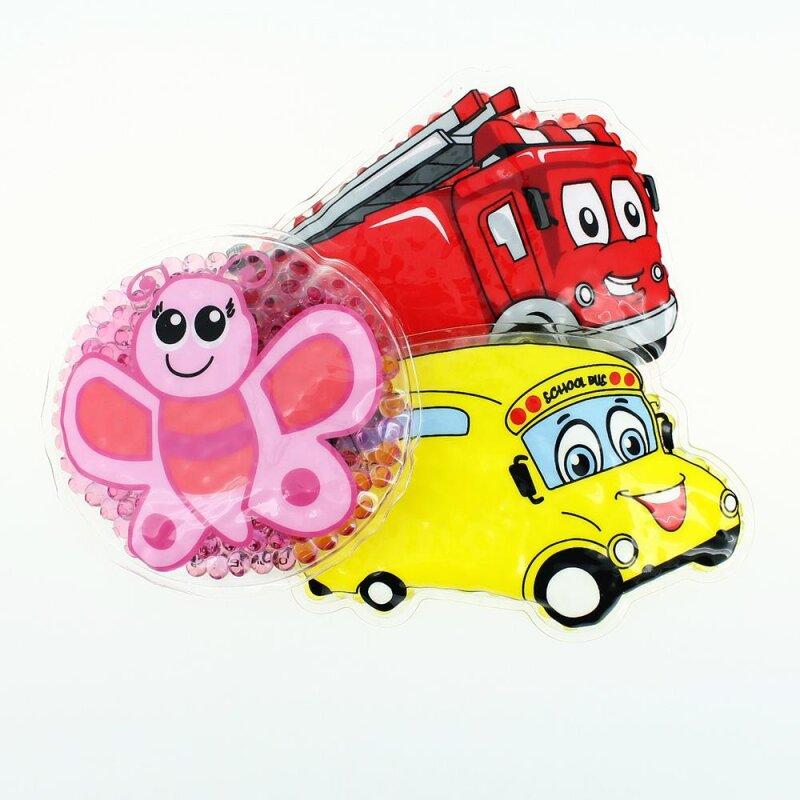 3 Kühlpads Schmetterling Bus/Gelbes Auto Feuerwehr