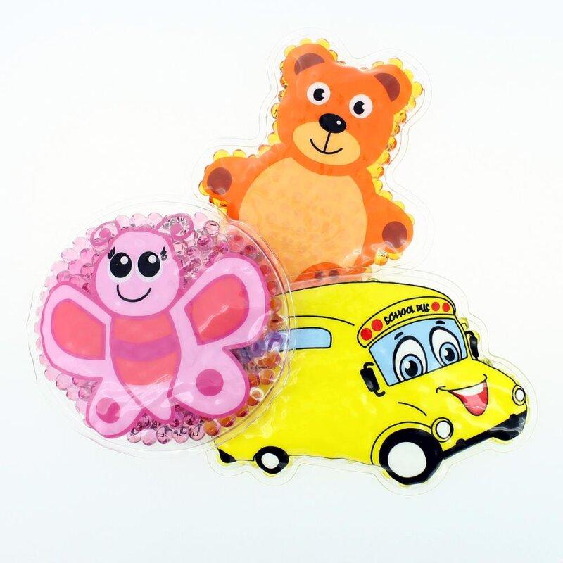 3 Kühlpads Schmetterling Bus/Gelbes Auto Teddybär