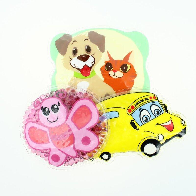 3 Kühlpads Schmetterling Bus/Gelbes Auto Hund/Katze