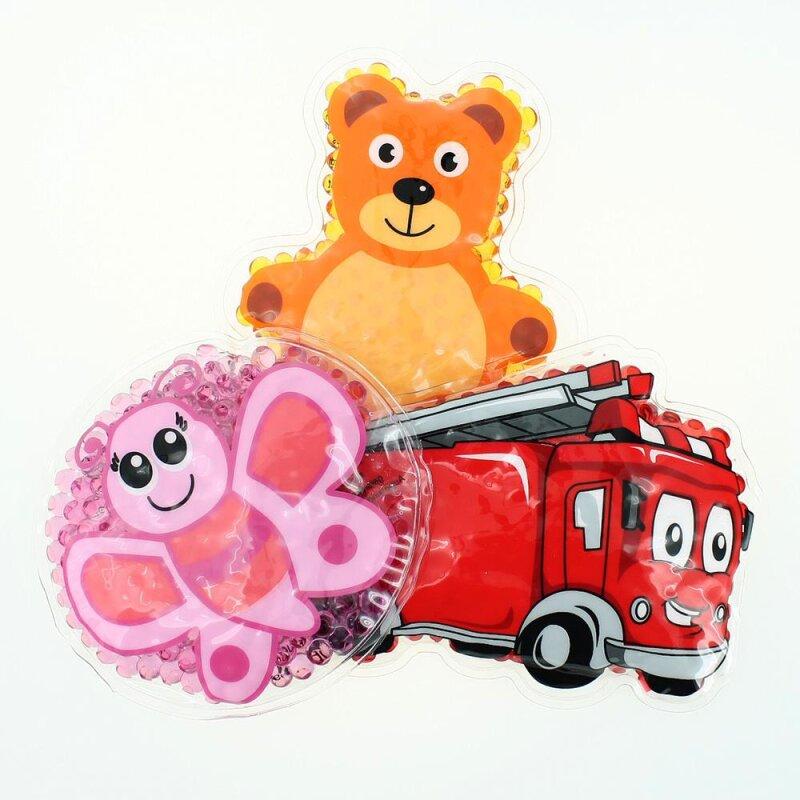 3 Kühlpads Schmetterling Feuerwehr Teddybär