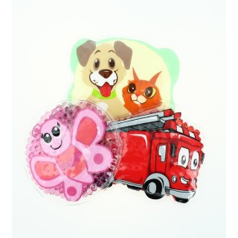3 Kühlpads Schmetterling Feuerwehr Hund/Katze