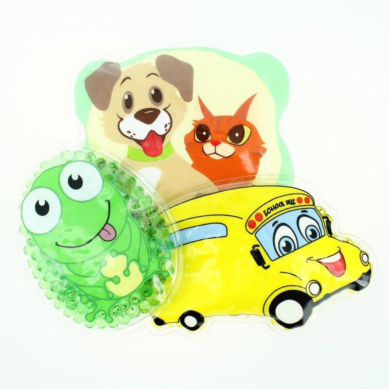 3 Kühlpads Frosch Bus/Gelbes Auto Hund/Katze
