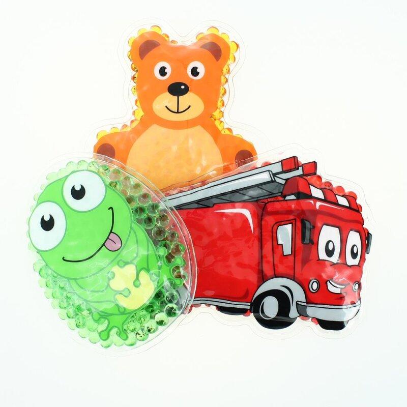 3 Kühlpads Frosch Feuerwehr Teddybär