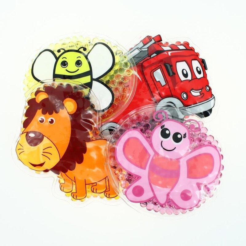 4 Kühlpads Löwe, Biene, Schmetterling, Feuerwehr