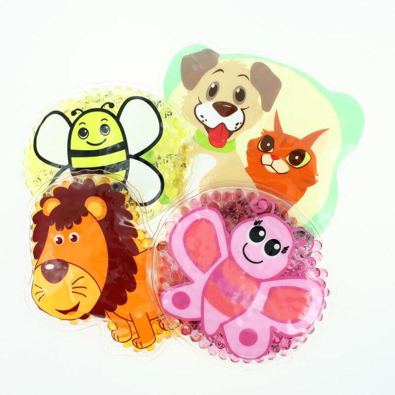 4 Kühlpads Löwe, Biene, Schmetterling, Hund/Katze