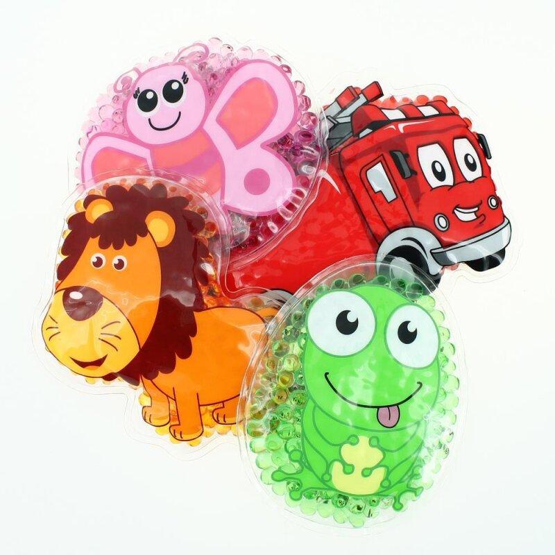 4 Kühlpads Löwe, Schmetterling, Frosch, Feuerwehr