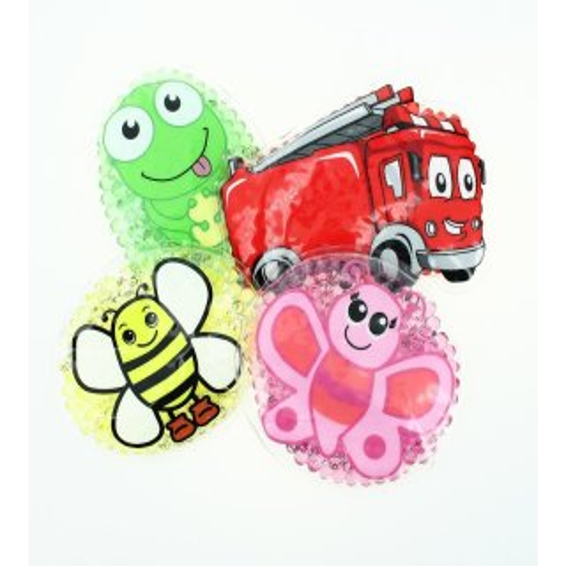 4 Kühlpads Biene, Schmetterling, Frosch, Feuerwehr