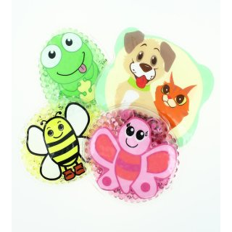 4 Kühlpads Biene, Schmetterling, Frosch, Hund/Katze