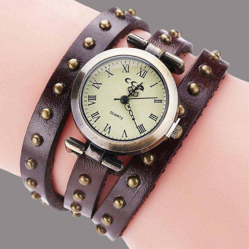 Retro Armbanduhr in Dunkelbraun