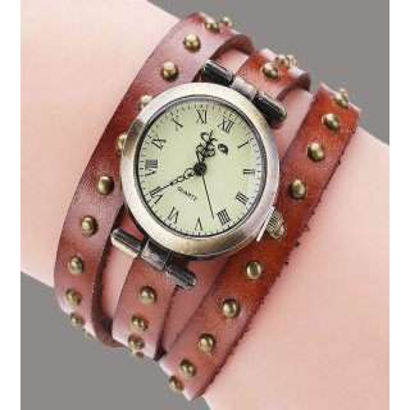 Retro Armbanduhr in Braun
