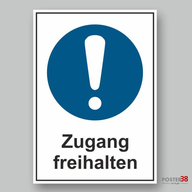 """Aufkleber reflektierend  """"Zugang freihalten"""" Allgemeines Gebotszeichen Premiumqualität"""