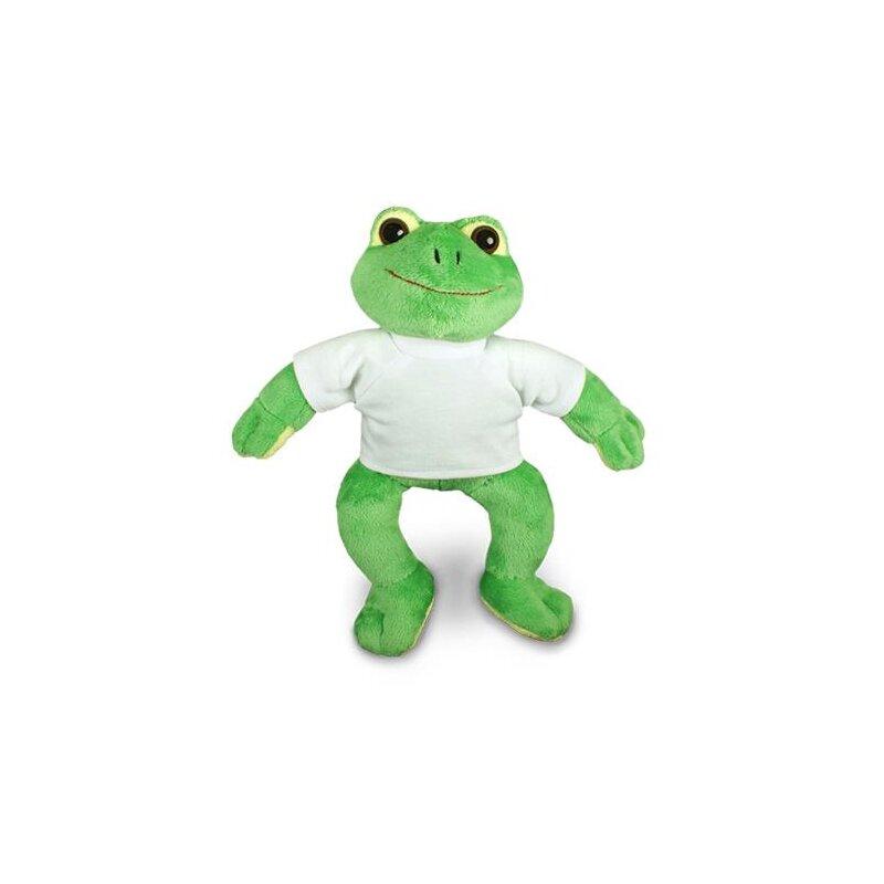 Kuscheltier Frosch Paddy  mit T-Shirt