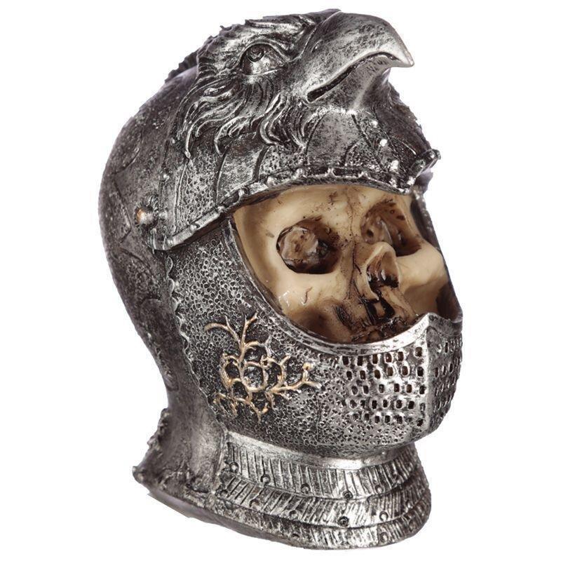 Totenkopf mitteralterlicher Vögel Helm