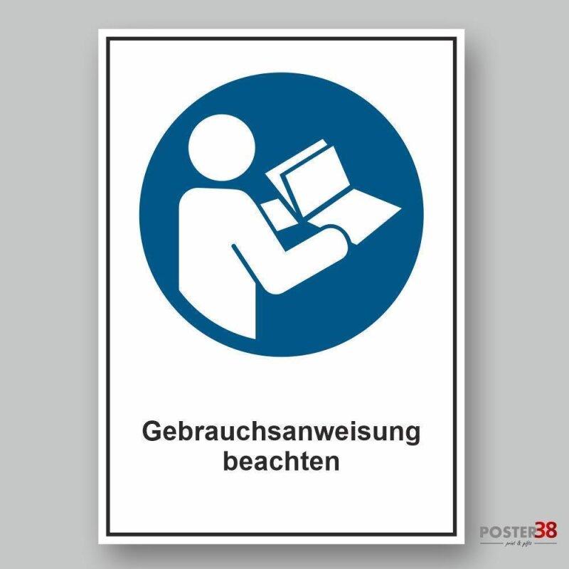 """Aufkleber """"Gebrauchsanweisung beachten"""", DIN ISO 7010"""